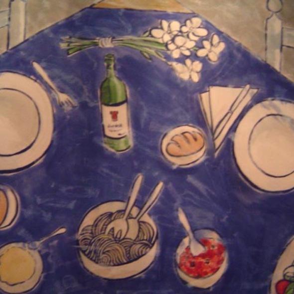 Spaguetti y vino