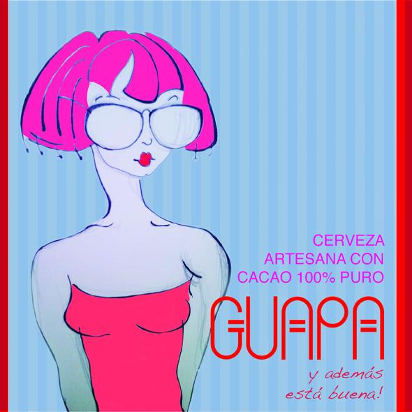 Etiqueta para cerveza GUAPA