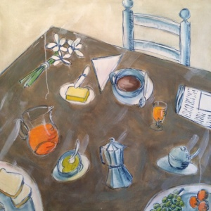 bodegon desayuno azul