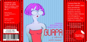 GUAPA_etiqueta_cerveza  - Ilustración